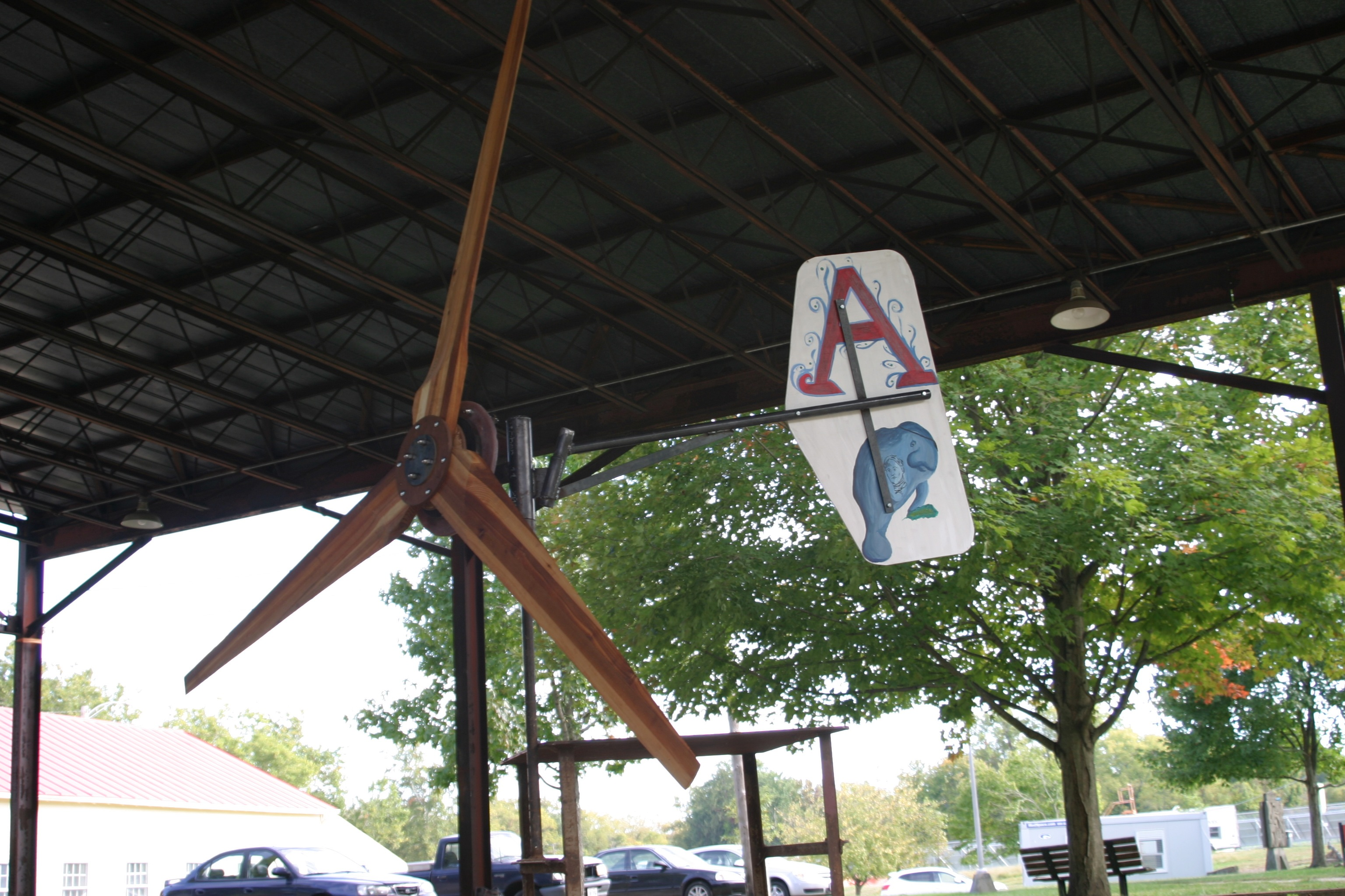 Student-built homebrew wind turbine from our 2014 class at Antioch College